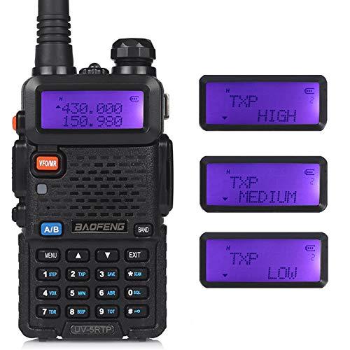 Baofeng UV-5R TP-Serie Walkie-Talkie 8 W High Power Ham Radio Langstrecken-Dual-Band Amateur 2-Wege-Funkgerät mit Hörmuschel