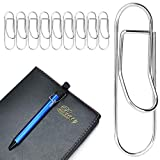 MUZHI Pen Clips Silver,Stainless Steel Pencile Holder for Notebook,Journals,Paper,Clipboard,Pictures-Fits Almost Any Pen Size 10 Pack