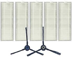 QGT XI287 5 PCS I259 Filter +1 Pair I258 Side Brush for ILIFE A7 / A9