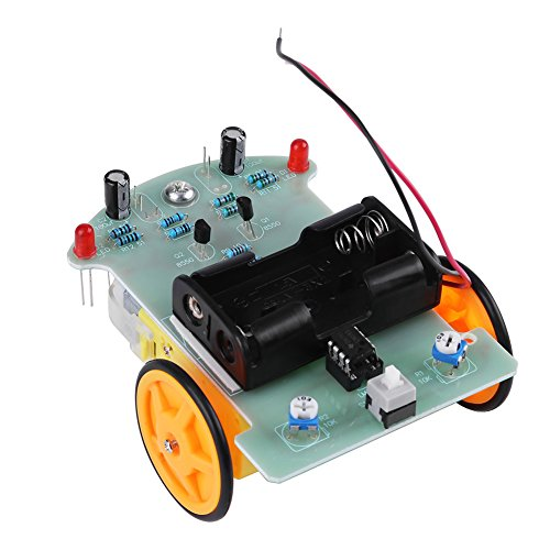 Yosoo インテリジェント追跡車 スマート トラッキングカー 自動追跡装置 DIY アクセサリーキット 電子部品セット 光電センサ 電圧コンパレータ モータ駆動回路 感光性抵抗 閉ループ制御