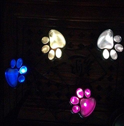 ZYW LED Solar Solarleuchten,4 LED Bärenklaue Solarleuchte Hund Pfote Boden Lampe Rasen Lampe im Freien