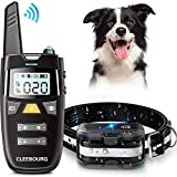 CLEEBOURG Dog Training Collar, Remote Dog Shock Collar Rechargeable Bark Collar with Three Training...