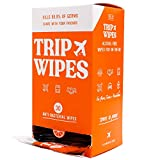 TRIP WIPES - Alcohol-Free Hand Sanitizing Antibacterial Hand Wipes For Planes, Trains, and Handshakes, 30 Count Pack Retail Display Box - (Citrus)