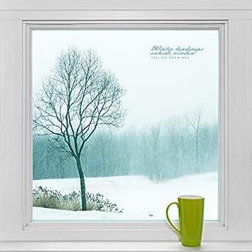 Winter landscape outside the window