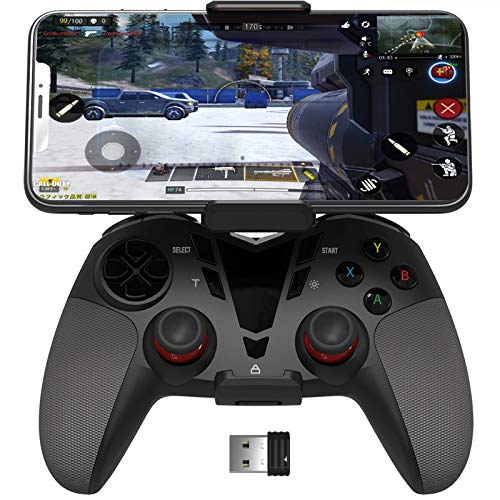 DELTA essentials PS3 PC Bluetooth/2.4G Wireless Dual Vibration Controller, Call of Duty Mobile PUBG Mobile Handy Controller Gamepad für PC (Windows XP/7/8/8.1/10/Vista), PS3, Android OS