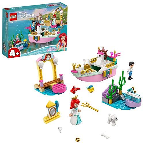 LEGO 43191 DisneyPrincess LeBateaudeMariaged'Ariel, Jouet Bateau de fête, la Petite sirène pour Les 4 Ans et Plus