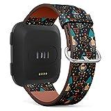 Art-Strap Compatible con Fitbit Versa - Correa de Piel para Reloj de Pulsera, Correa de Repuesto con Cierre rápido (báscula de Signo Estrellado)