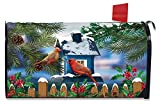 Briarwood Lane Snow Day Cardinals Winter Magnetic Mailbox Cover Birdhouse Standard