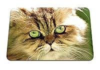 22cmx18cm マウスパッド (猫の顔の目がふわふわ) パターンカスタムの マウスパッド
