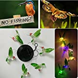 Kicode Farbwechsel Solarlampe LED Kolibri Windspiele Für Licht im Freien Hängend Garten-Dekor