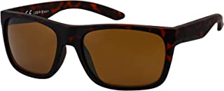 La Optica B.L.M. - La Optica Gafas de Sol LO8 UV400 Deportivas da Hombre y Mujer, Goma Negro (Lentes: marroné)