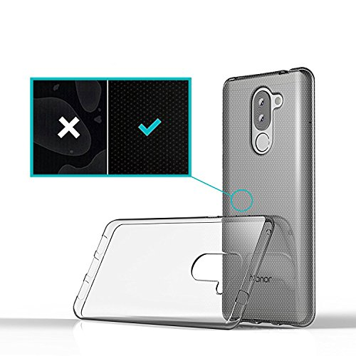Huawei Honor 6X Hülle, Lanseed Crystal Clear Silikon Schutzhüle für Huawei Honor 6X Case TPU Bumper Cover Hülle Transparent - 4