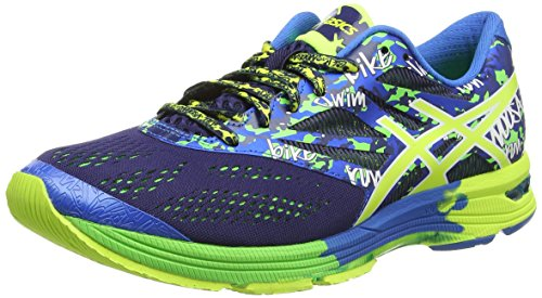 ASICS Gel-Noosa Tri 10, Zapatillas de Running Hombre^Mujer, Azul (Midnight/Flash Yellow/Flash Green 4907), 46 EU
