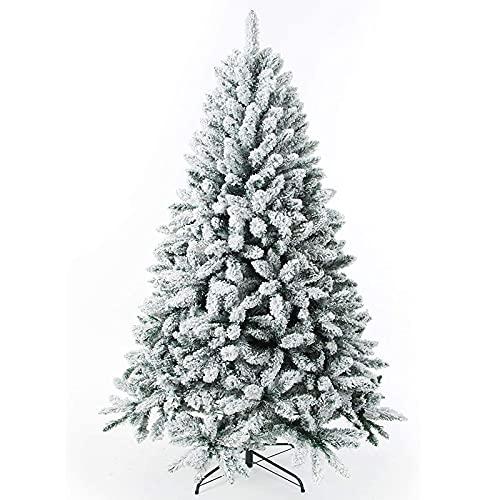 qwqqaq Floccato Neve Albero di Natale Artificiale,Premium Incernierato Albero di Natale Pino con Snow-Effect,Albero di Natale Artificiale Pino per Home Party-A 2ft(60cm)