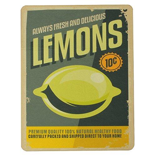Macosa PA31031 afdruipmat Lemon Vintage-Design | zelfdrogend | voor glazen & servies | afdruipmat gootsteen