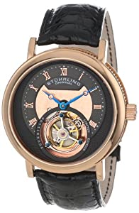 Stuhrling Original Men's 502.334XK54 'Limited Edition' 16k Rose Gold Mechanical Watch with Leather Band image