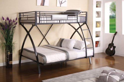 Furniture of America Garrett Bunk, Silver & Chrome