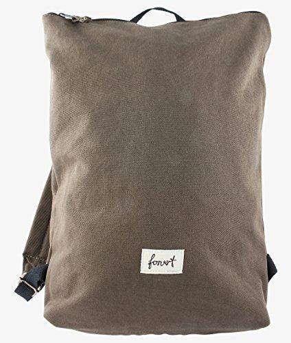 FORVERT Unisex Bag Colin minimalistischer Rucksack mit zurückgenommenem Design für Puristen, grün (Dark Olive)