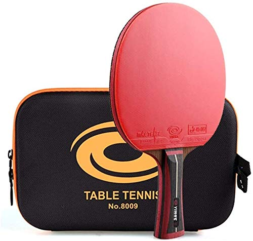 Pong Paddle Set Ping Pong Paddle Professional Table Tennis Bat 13 Stars Advanced Carbon Fiber Ping Pong Paddle Offensive/As Shown/Long Handle (Size : Long Handle)