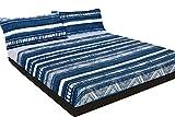 Juego de sábanas étnico Azul (Monterrey, para Cama de 90x190/200)