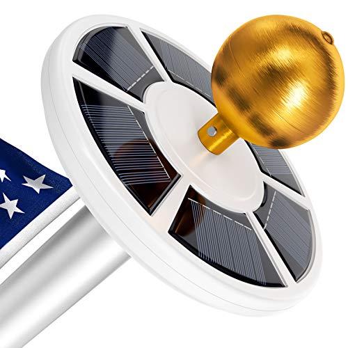 Solar Flag Pole Light, Lasts 2X Longer Than Competition, Super Bright Flag Pole Lights, 100% Flag Coverage, Fits Most Most Flag Poles, Flag Pole Lights Solar Powered, Bright Energy Saving LEDs - Vont