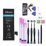 Xlhama Batería Alta Capacidad Li-Ion 1800mAh Compatible con iPhone SE con Juegos de Herramientas de Reparación,Instrucciones,y Protector de Pantalla