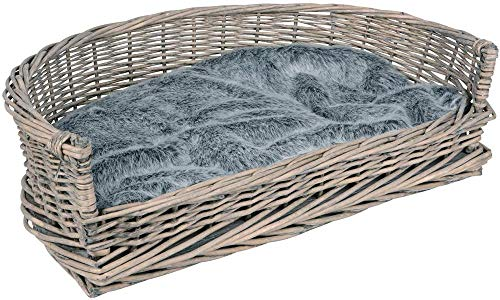 LHYLHY Willow Dog Bed S - XL with Cushion Grey for Large and Small Dogs