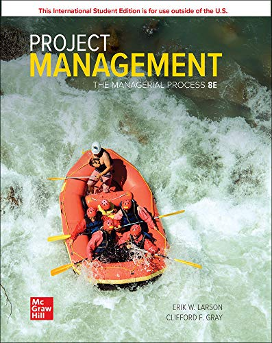 Project Management: The Managerial Process, 8th Edition Front Cover