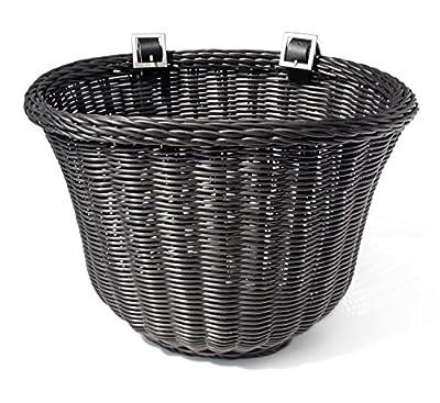 Colorbasket Adult Front Handlebar Bike Basket - Black