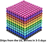 Magnetic Balls 1000 PCS 3 MM Rainbow Creative Magnet Toys Set Rare Earth Powerful Beads Desktop Sculpture with Endless Shapes for Holiday Gift (Ten Colors)