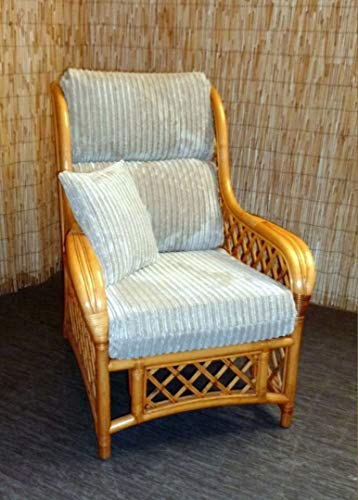New Replacement Cushion Covers for Cane Wicker and Rattan Conservatory and Garden Furniture - Beige Jumbo Cord