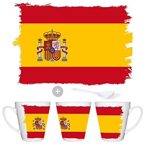MERCHANDMANIA Taza CONICA Bandera ESPAÑA Pais CONSTITUCION Conic mug