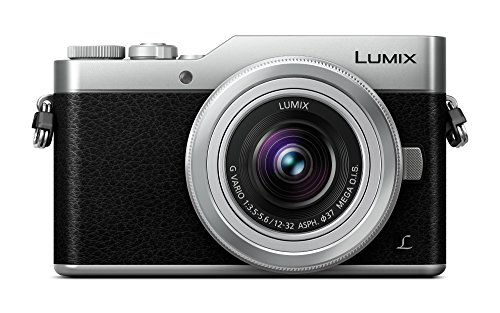 Panasonic LUMIX G DC-GX800KEGS Cámara digital sin espejo 4K, lente LUMIX G VARIO 12-32mm F3.5-5.6 con estabilizador MEGA OIS, monitor táctil inclinable de 3 LCD, flash integrado, Wi-Fi, plata