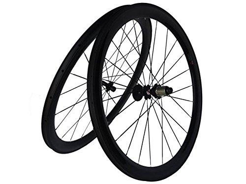 Flyxii in carbonio 3 k-Set di ruote per copertoncino e camera d'aria per bicicletta da strada, 50 mm x 25 mm, con ruote a raggi per mozzo shimano 8/9/10/11S