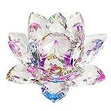 Sumnacon Fleur de Lotus Cristal - pour la Décoration dans la Maison, Idéal Cadeau pour Anniversaire, Les Fêtes(100mm Multicolor)