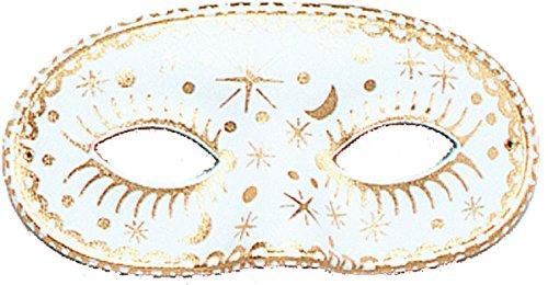 Moon/Star Domino, White Mask, Fancy Dress, Accessory