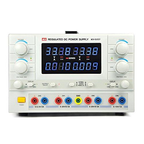 多出力直流安定化電源 4CH出力 4CH調整可 小型 シリーズレギュレータ方式 4桁表示 低ノイズ マルチ出力化 独立0~30V 0~5A 直列0~60V 並列0~10A MCH-3205IV