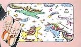 DIIRCYB Felpudo Lavable Antideslizante Interior Exterior de la Estera de la Puerta,Funny Set with Rainbow Unicorn and Other Magic Attributes Stars Clouds,Alfombra de Cultivo de Bricolaje, para la Alf
