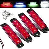 Electrely 4 Pezzi Luci di posizione laterali indicatori laterali per rimorchio, 12V 6 LED,...