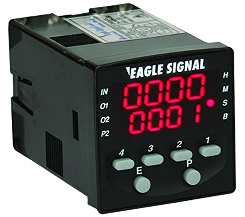Eagle Signal High Performance Multifunction LED timer with Relay Outputs, compact size, multiple timing functions, easy to program, surface or panel mount, part # B506-2001