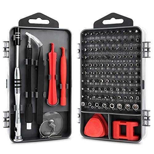 KYG Tournevis de Précision 112 en 1 Jeu de Tournevis Professionnels avec 90 Pointes Magnétique, Kit de Réparation Portable pour Ordinateur Laptop iPhone Lunettes
