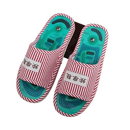 Xiao Jian- Akupunkturpunkt Magnetic Therapie Massage Hausschuhe Männer Und Frauen Rutschfeste Pediküre Schuhe Gesundheit Fuß Schuhe Pebbles Massage Schuhe Frühling Und Sommer Hausschuhe