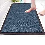 14 Sizes Non Slip Door Mat Small Large Carpet Door Entrance Mat Dust Barrier Mat Rug Kitchen Home Office Use (Blue, 40 x 60 cm)