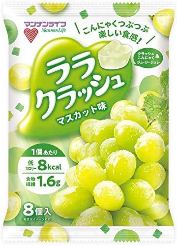 『マンナンライフ ララクラッシュ 5種(オレンジ味・ぶどう味・マスカット味・ソーダ味・レモネード味) 合計5袋』の4枚目の画像