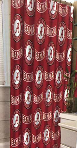 NCAA University of Alabama Decorative Bath Collection - Shower Curtain