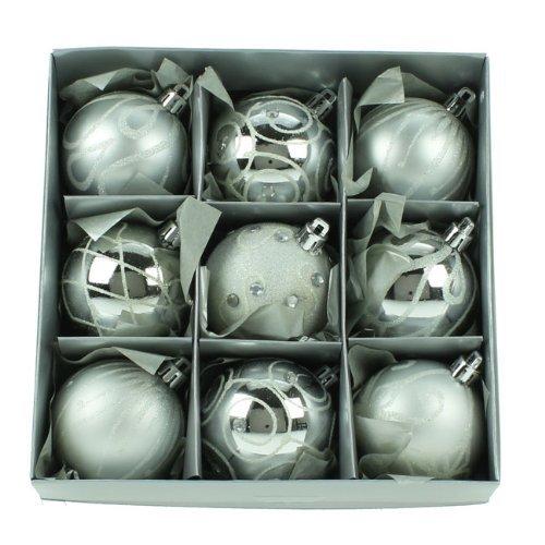 Christmas Direct - Set di Decorazioni Natalizie, 6 cm, Colore: Argento
