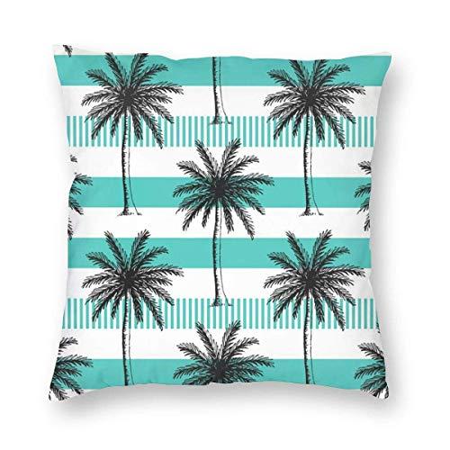 Funda de almohada de palma pintada a mano para cojín cuadrado 45 x 45 cm