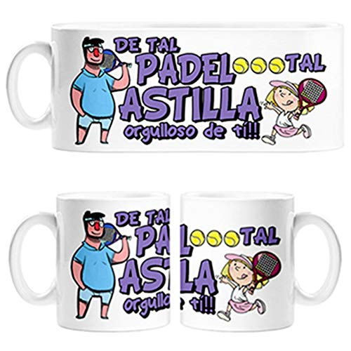 Taza Padre y niña de Tal Padel Tal Astilla Orgulloso de ti - Cerámica