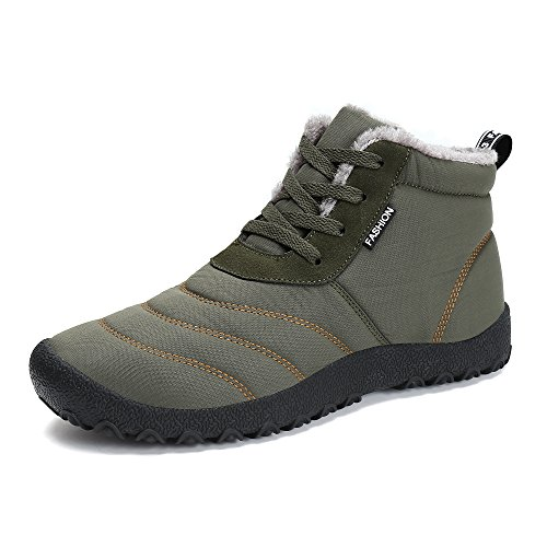 Botas de Nieve Unisex, Popoti Hombre Mujer Botas de Nieve Zapatos Antideslizante...
