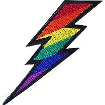 Regenbogen-Lightning-Aufnäher zum Aufbügeln oder Aufnähen, bestickt, LGBT, Gay Pride